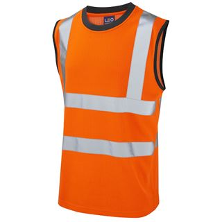 Leo V01 Ashford High Vis Sleevless Vest