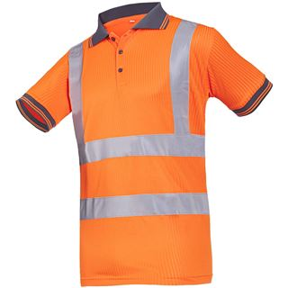 Sioen 3879 Short Sleeved High Vis Orange Polo