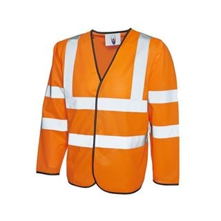 UC802 High Vis Orange Long Sleeve Vest