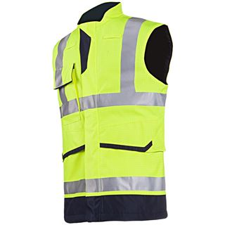 Sioen Flaxton FR Anti-Static High Vis Yellow Body-Warmer