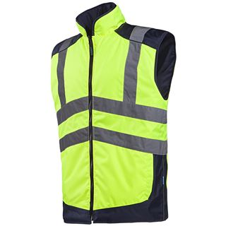 Sioen Burton High Vis Yellow Reversible bodywarmer