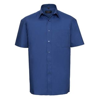 Russell 937M Short sleeve 100% cotton poplin shirt