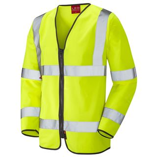 Leo S08 Brayford Long Sleeve High Vis FR Vest
