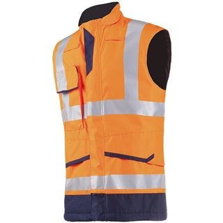 Sioen Flaxton FR Anti-Static High Vis Orange Body-Warmer