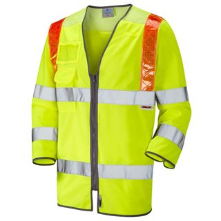 Leo S14 High Vis Yellow Traffic Management Vest