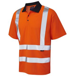 Leo P01 Croyde High Vis Polo Shirt