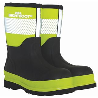 Brightboot Mid Height Yellow Safety Wellingtons