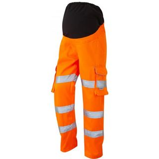 Leo Verity CM01 High Vis Orange Maternity Trousers