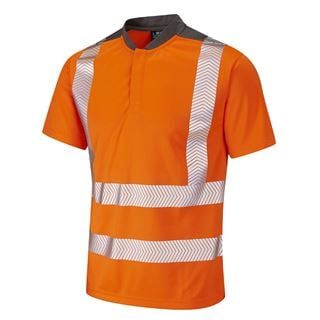 Leo T12 Putsborough High Vis Short Sleeve Polo Shirt