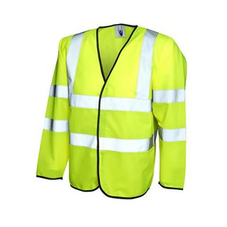 UC802 High Vis Yellow Long Sleeve Vest