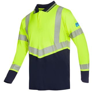 Sioen Arran High Vis Yellow FR AST Polo Shirt