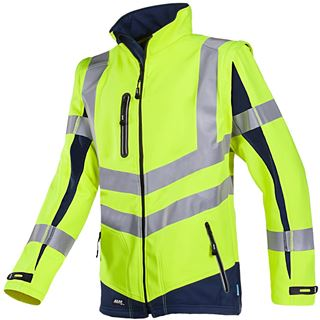 Malden 724 High Vis Yellow Soft Shell Jacket
