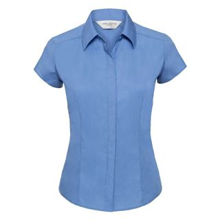 Russell 925F Cap Sleeve Easycare Fitted Poplin Blouse