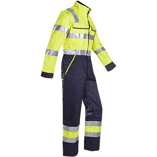 Sioen 018 Autun High Vis Yellow Arc Overall