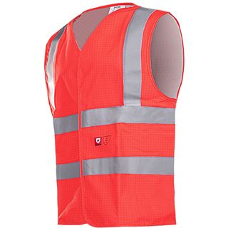 Sioen 307A Hellisan Anti Static FR Red High Vis Vest