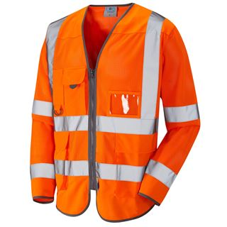 Leo S20 Burrington Coolviz Long Sleeve High Vis Vest