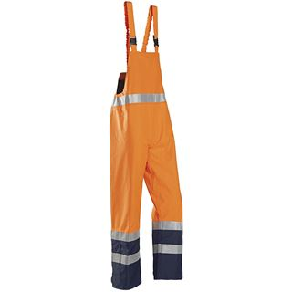 Sioen 6133 Brisbane Multi Norm Orange High Vis Bib and Brace Overalls