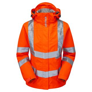 Pulsar PR705 Ladies High Vis Orange Jacket