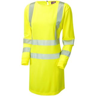 Leo Lilly Womens High Vis Yellow Modesty Tunic MT01-Y