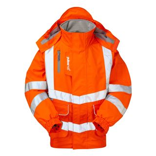 Pulsarail PR496 High Vis Lined Bomber Jacket