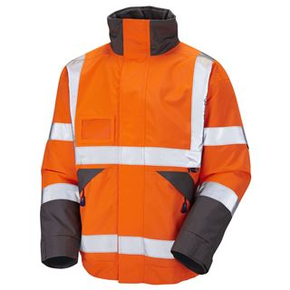 Leo J02 Bickington High Vis Bomber Jacket