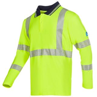 Sioen Garat High Vis Yellow FR AST Polo Shirt