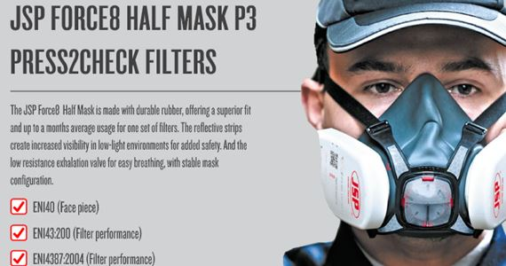 The JSP Force8 Half Mask