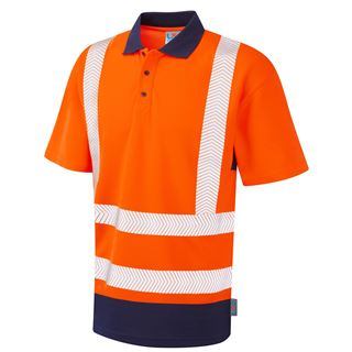 Leo P11 Mortehoe High Vis Polo Shirt