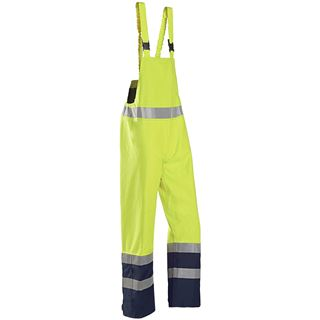 Sioen 6133 Brisbane Multi Norm Yellow High Vis Bib and Brace Overalls