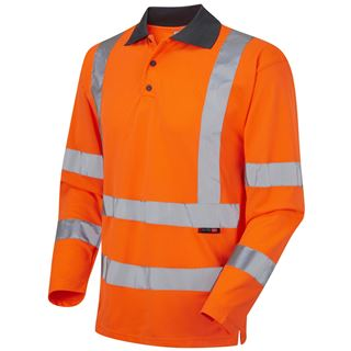 Leo P06 Woolsery High Vis Polo Shirt