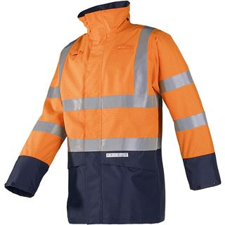 Elliston 7219 FR AST High Vis Orange Rain Coat