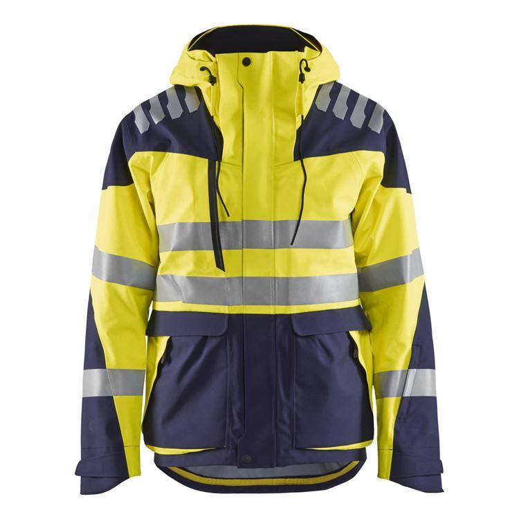 Blaklader Workwear Softshell Jacket Women Yellow//Navy Blue