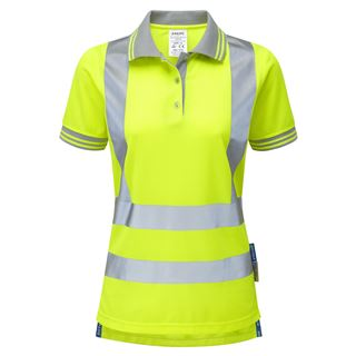 Pulsar P700 Ladies Short Sleeve High Vis Yellow Polo Shirt
