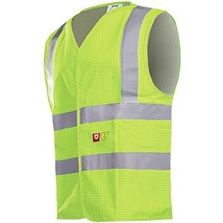 Sioen 307A Hellisan Anti Static FR Yellow High Vis Vest
