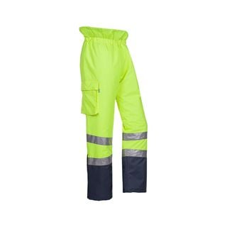 Sioen Allens 5855 High Vis Lined Yellow Waterproof Overtrousers