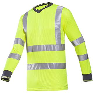 Bresso high Vis Yellow Long Sleeved T-Shirt
