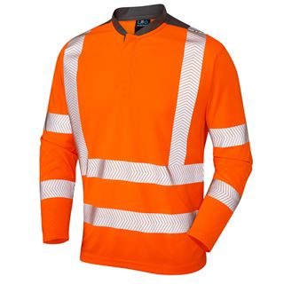 Leo T13 Watermouth High Vis Long Sleeve Polo Shirt