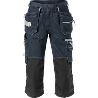 Fristads 2136 Denim stretch pirate trousers