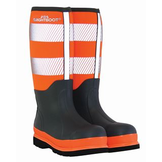 Brightboot Tall Orange Safety Wellingtons