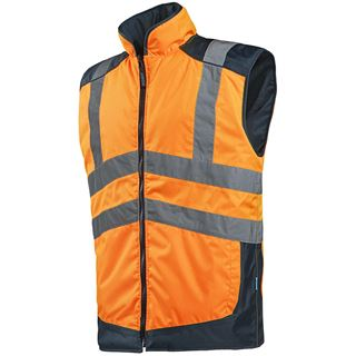 Sioen Burton High Vis Orange Reversible bodywarmer