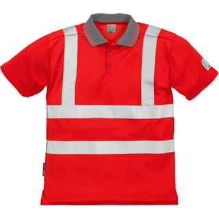 Fristads High Vis Red Polo shirt 7425