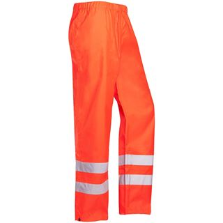 Sioen Bitoray 199 High Vis Red Waterproof Overtrousers