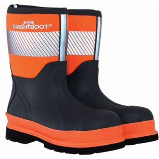 Brightboot Mid Height Orange Safety Wellingtons
