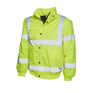 UC804 High Vis Yellow Bomber Jacket.