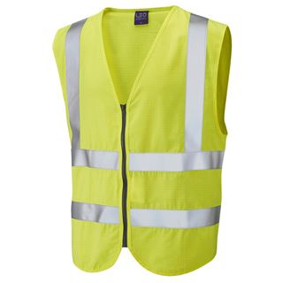 Leo W10 Harracott FR AST Yellow High Vis Vest