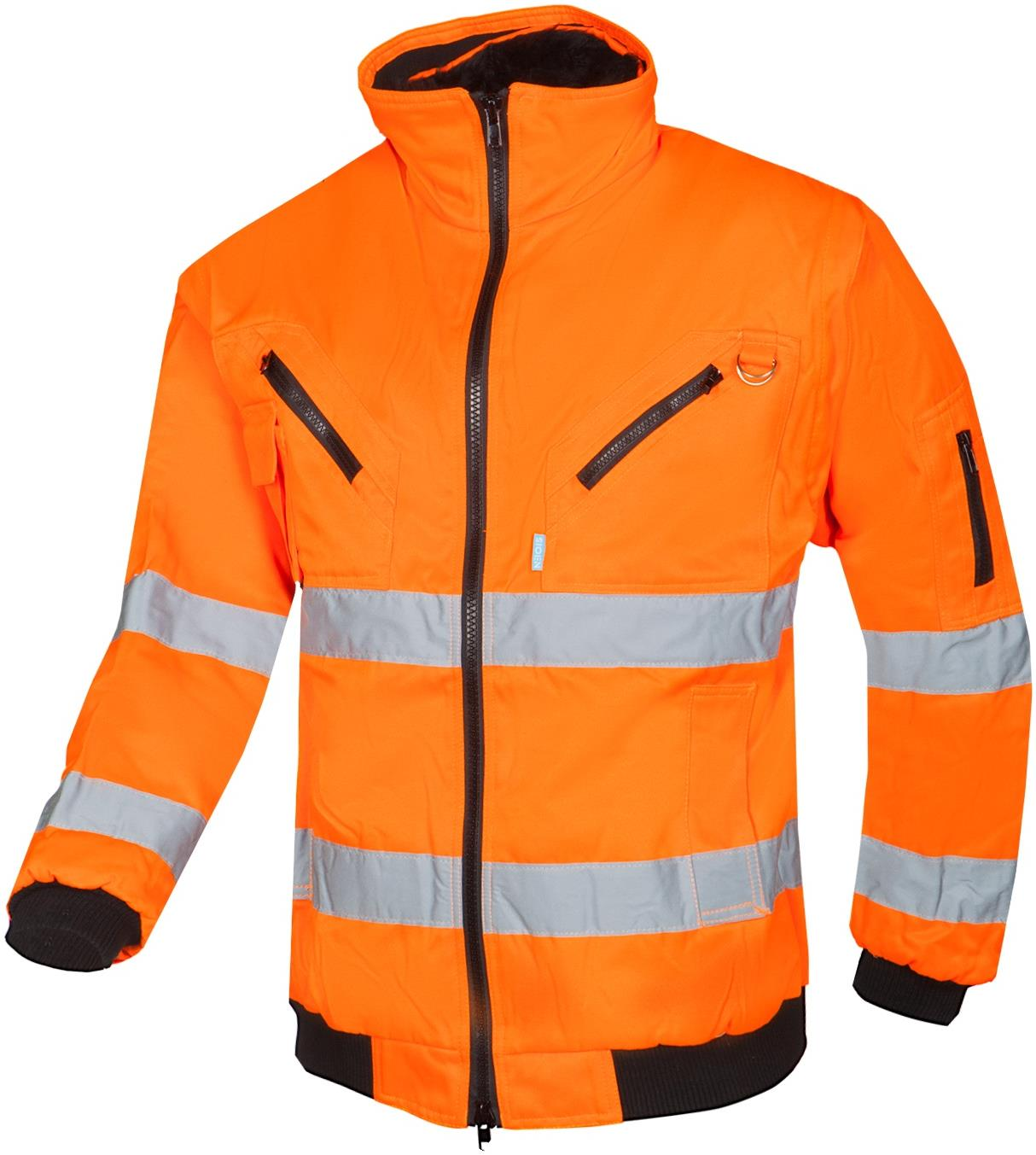 Sioen Sparrow High Vis Bomber Jacket with Detachable Sleeves
